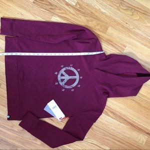 NWT! Gottex burgundy hoodie size S